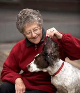 Margaret and dog